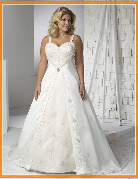 Size plus wedding dresses under 100