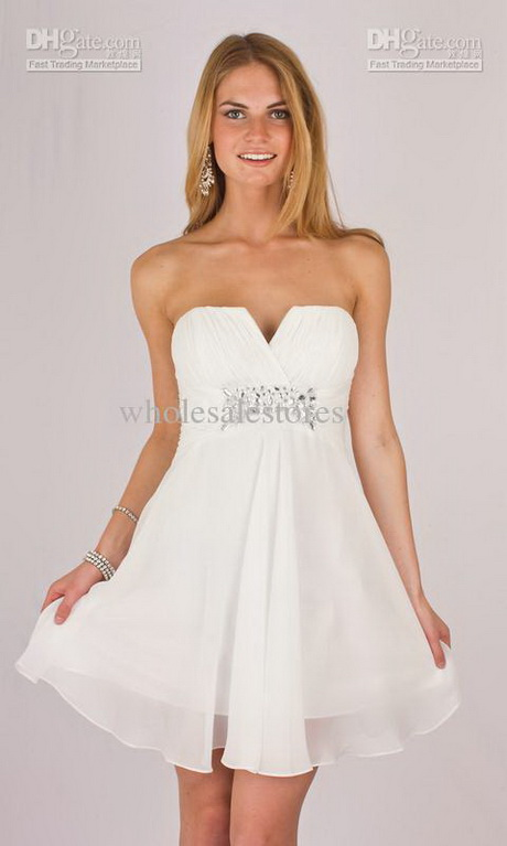White Cheap Cocktail Dresses 100