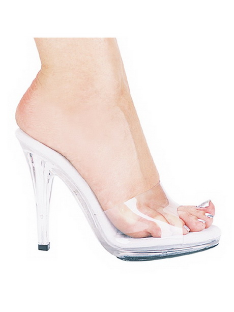 clear high heel shoes