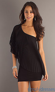 Buy Pleated Little Black Dress at SimplyDresses