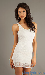 Buy Short Sleeveless Lace Dress at SimplyDresses