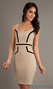 Buy Short Fitted Sleeveless Dress at SimplyDresses