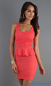 Buy Short Sleeveless Dress at SimplyDresses