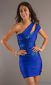 Buy Sexy Atria One Shoulder Homecoming Dress at SimplyDresses