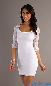 Buy Short Lace Embellished Dress at SimplyDresses