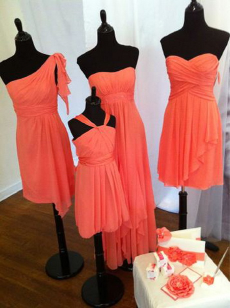 Coral Colored Bridal Dresses High Cut Wedding Dresses