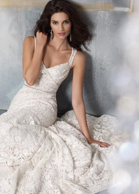 Cotton lace wedding dress for Lace blush wedding dress