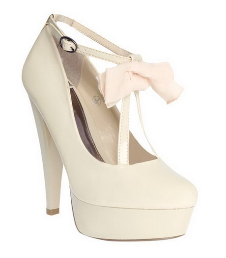 Cream heels Cream Heels With Bow