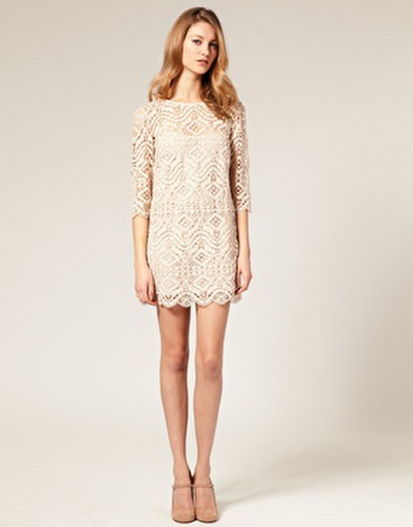 Cream lace shift dress for Shift dress for a wedding