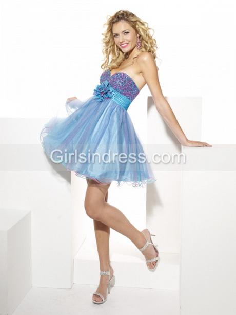 line Sweetheart Beading OrganzaSatin Cute Graduation Dress