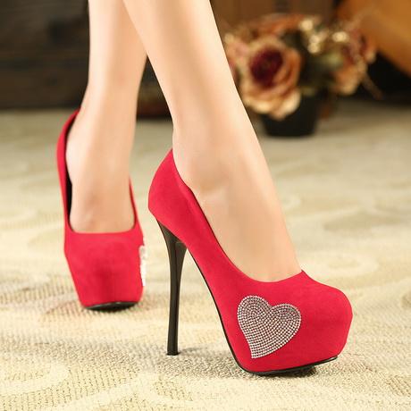 cute red heels