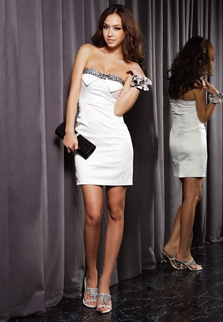 Cute white party dresses