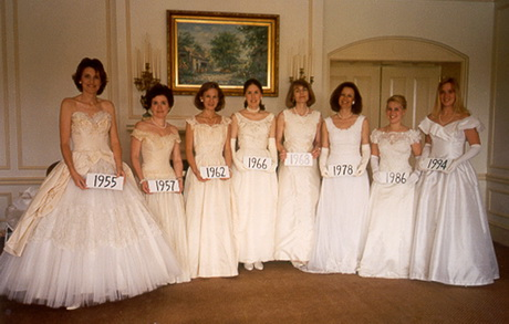 ... model vintage ball gowns at the Mother-Daughter Luncheon 13 May 1995