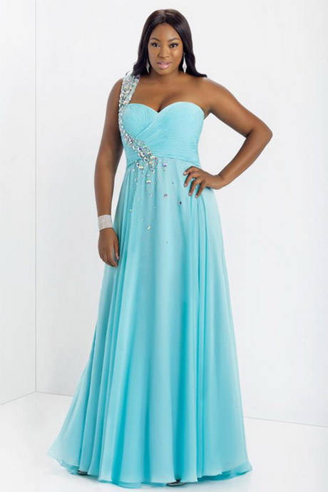 2014 new arrival prom dress plus size a line one shoulder floor length