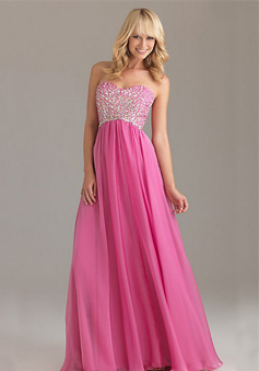 Fabulous A-Line Strapless Sweetheart Floor-Length Chiffon Prom Dress style 33999