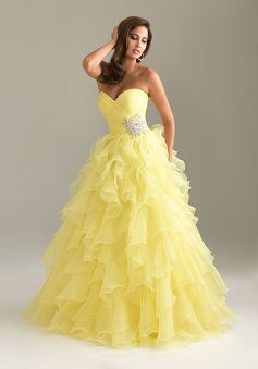 Sweetheart Princess Organza With Ruffles Prom Dress PG00412