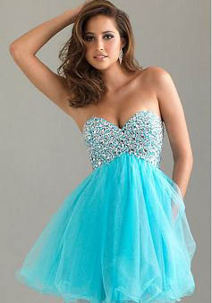 A-Line Strapless Sweetheart Short/Mini Tulle Prom Dress style 33976