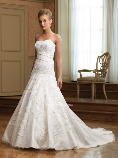 Drop Waist Wedding Gowns