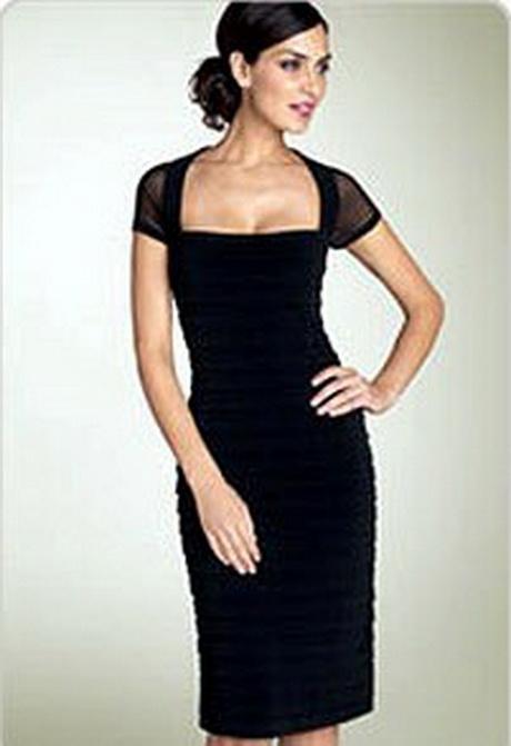 Черное платье для полных, фото