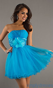 Buy Short Strapless Tulle Dress at SimplyDresses