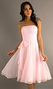 Buy Strapless Pink Dress at SimplyDresses