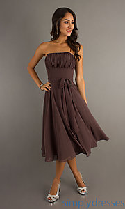Buy Chocolate Mori Lee 735 Homecoming Dress at SimplyDresses