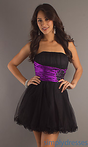 Buy Short Strapless Tulle Party Dress at SimplyDresses