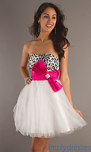 Buy Short Strapless Sweetheart Dress 8056 at SimplyDresses