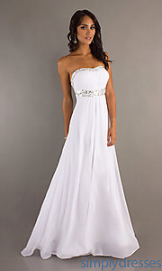 Buy Elegant Strapless Prom Dress at SimplyDresses