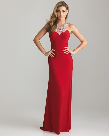 fitted red evening gowns - photo #15