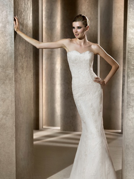 Fitted wedding dresses for Fitted strapless wedding dress