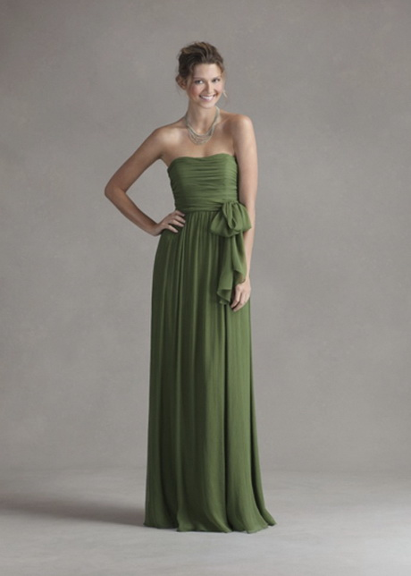 Forest green bridesmaid dresses for Forest green wedding dress