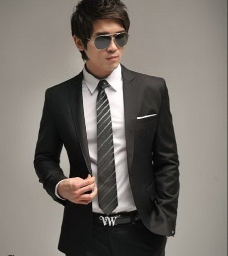Black formal coats for men