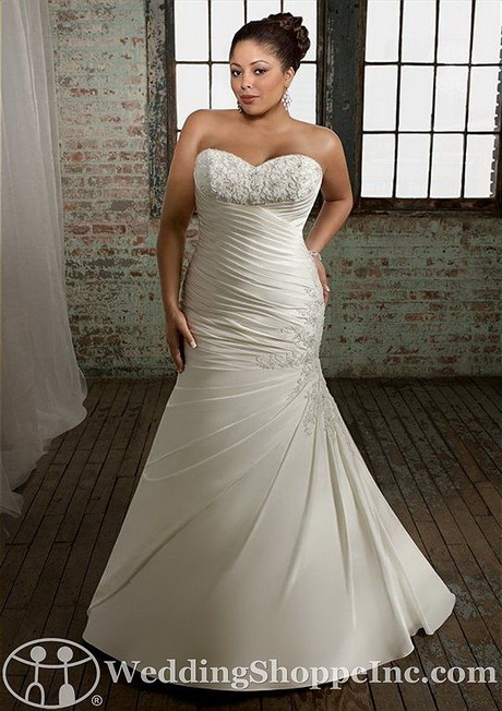 trumpet style wedding dresses for full figured brides