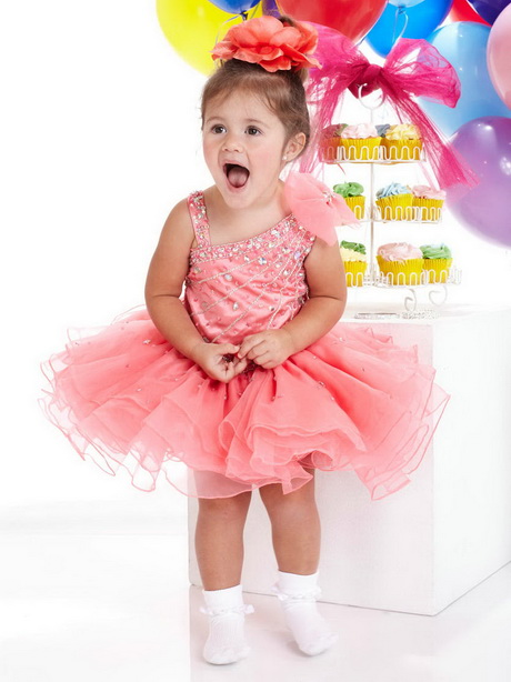 Little girl party dresses pink