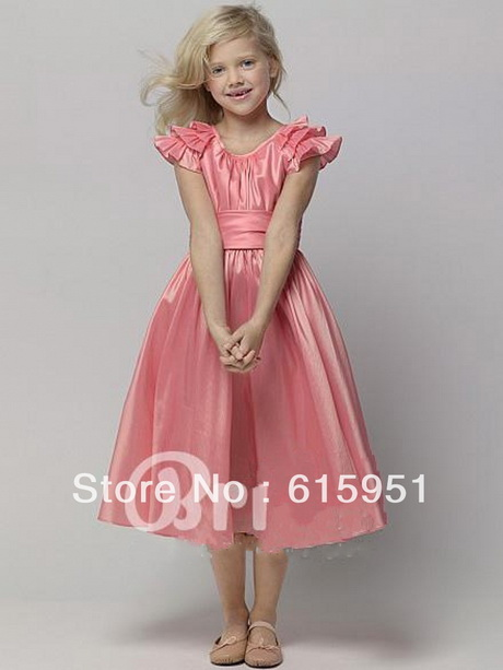 girls pink party dresses