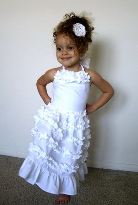 White Party Dresses For Girls 106