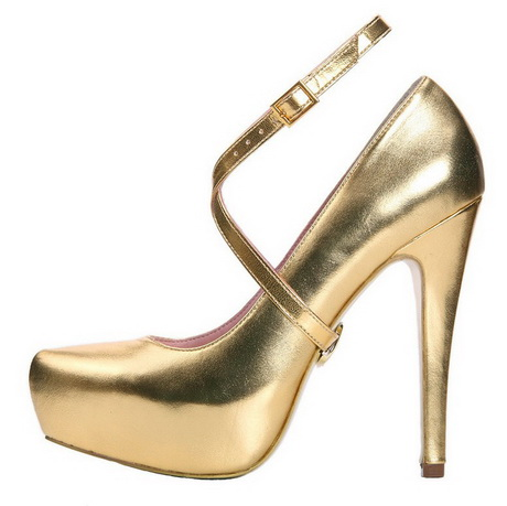 gold high heels for prom
