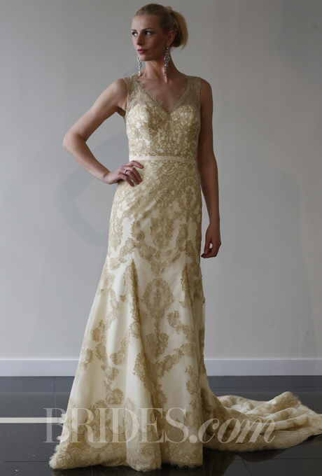 Gold lace wedding dress for White and gold lace wedding dress