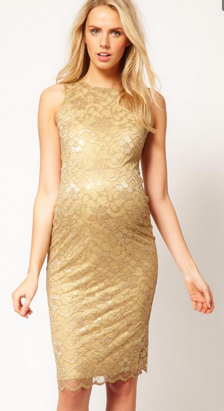 Gold Maternity Dress