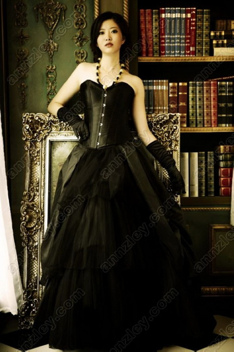 Gothic prom dresses for Plus size gothic wedding dress