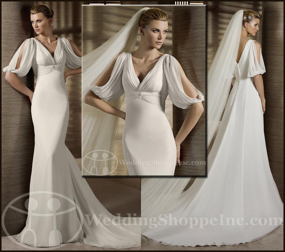 Grecian wedding gown: White One Teatro
