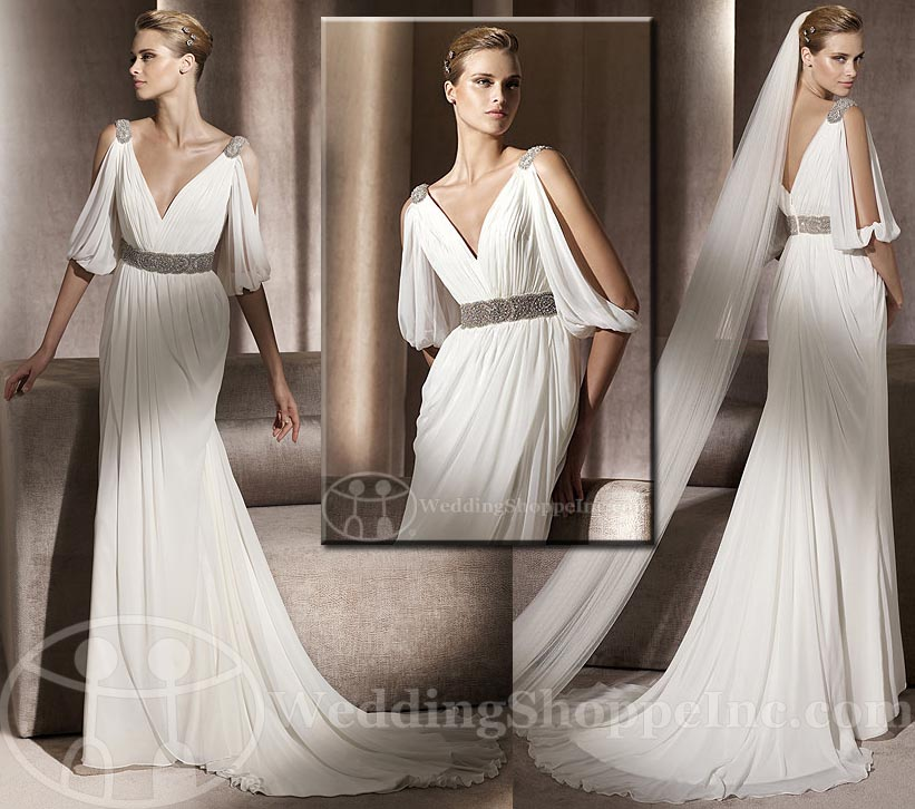 The Best Grecian Style Wedding Dresses: Greek Style Wedding Dresses