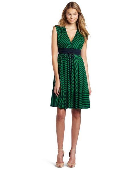 Perfect for: women. Dress Faded Navy and Amazon Green