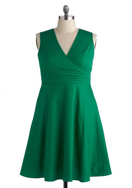 Plus Size Green Dresses 74