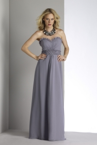 charcoal sweetheart bridesmaid dress floor length a line bridesmaid gown