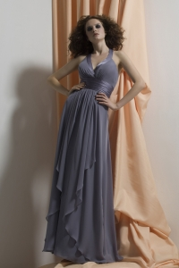 charcoal bridesmaid gown sweetheart ruffled long evening dress