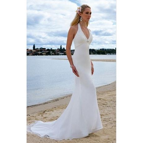 Halter beach wedding dress for Halter wedding dresses beach