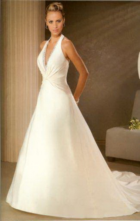 Halter top wedding dresses for Wedding dress halter top