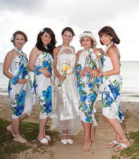 Hawaiian bridesmaid dresses for Tropical wedding bridesmaid dresses